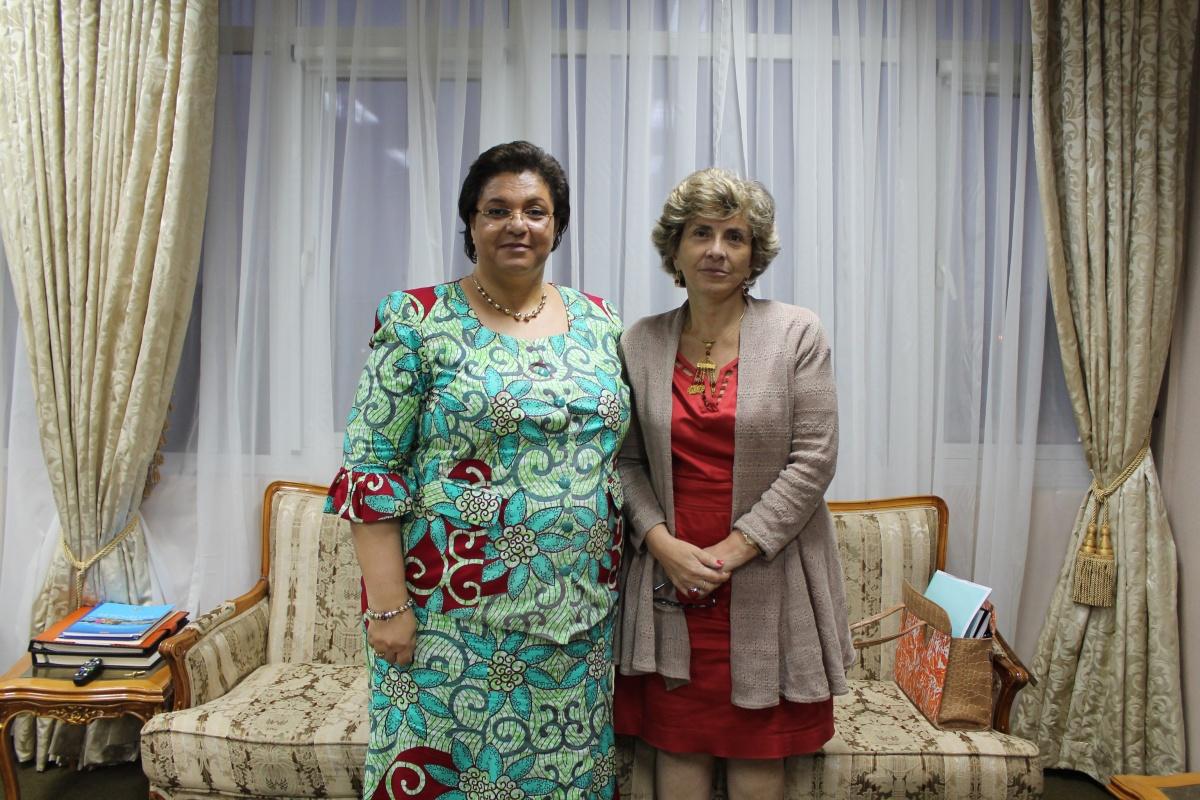 Encuentro de la Embajadora Turbay con la Ministra de Relaciones Exteriores de Ghana