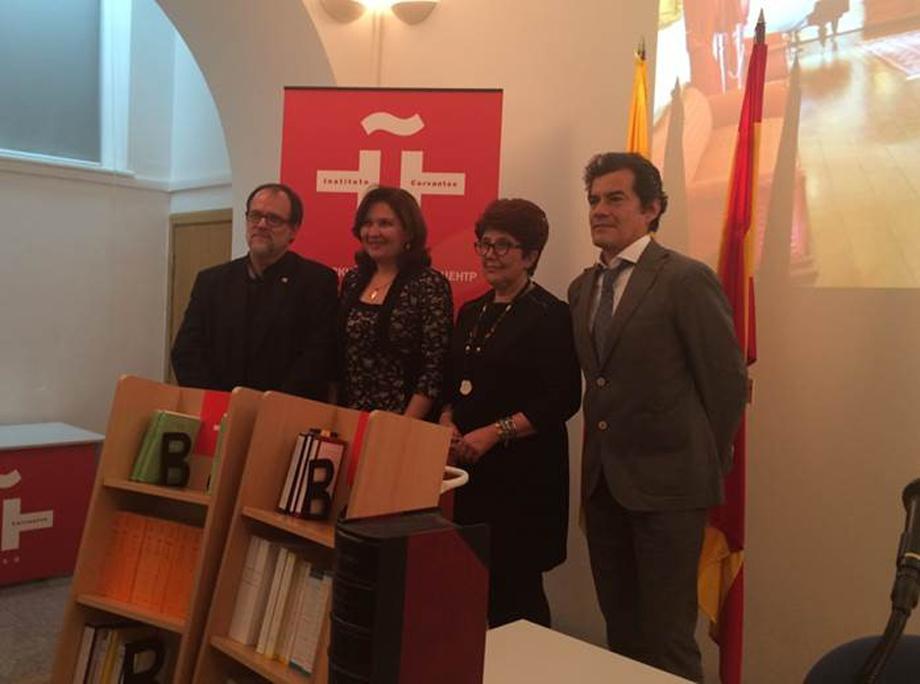 Embajada de Colombia en Rusia entregó donación al Instituto Cervantes en Moscú de 40 libros